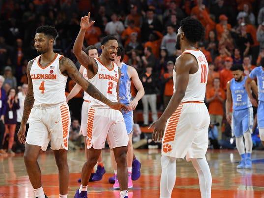 basketball, 2018, clemson, unc,, north carolina