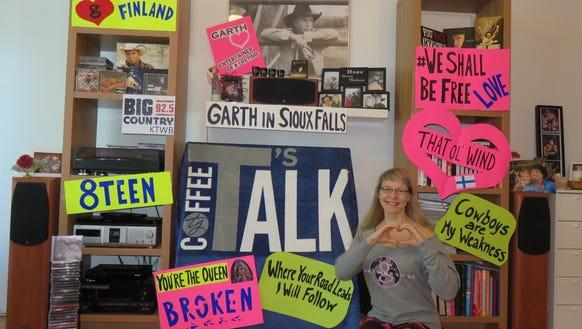 Garth Brooks superfan Tiina Pukki decorates her living