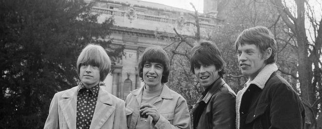 Loewenstein helped the members of the British rock band the Rolling Stones become rich. The band pose in Paris, 28 March 1966. Right to Left: Brian Jones, Bill Wyman, Keith Richards and Mick Jagger.