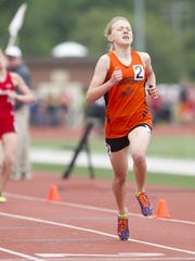 Iola-Scandinavia's Erika Kisting is trying for a second straight title in the Division 3 girls 1,600 and 3,200 during the WIAA state track meet this weekend.
