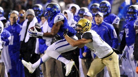 MTSU safety Alex Dale (2) will look to man the safeties