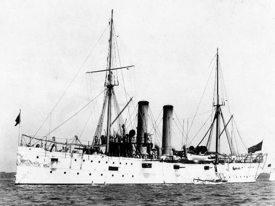 The original USS Montgomery built in 1891 and commissioned in 1894.