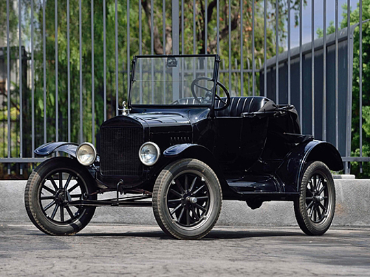 A Ford Model T, credited as the first affordable automobilie,