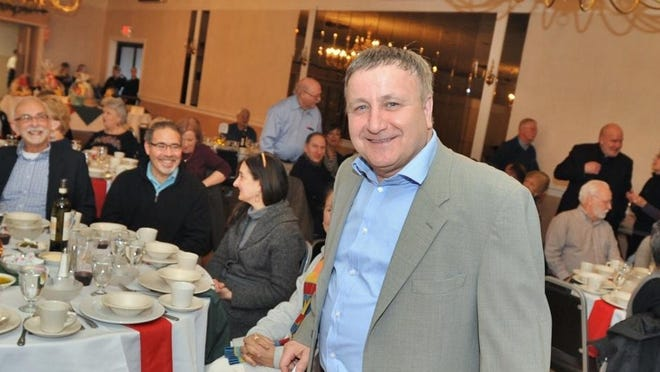 Anthony Martignetti at a 2019 spaghetti dinner held by the Italian-American Cultural Organization at the Sons of Italy Hall in Braintree. SOURCE: The Patriot Ledger, 2019
