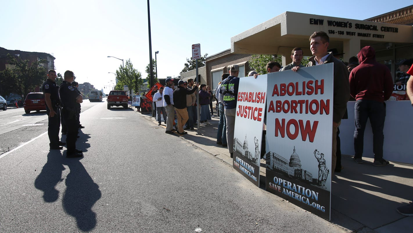 Abortion clinic protest pictures Decision to ban