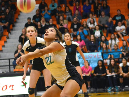 Brandy Hernandez and the Oñate volleyball team is seeded No. 2 for this weekend's Class 6A volleyball tournament.
