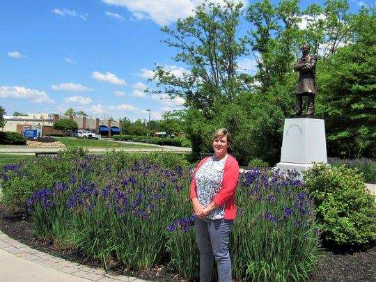 Tourism coordinator Karen Tindal stands ready to carry