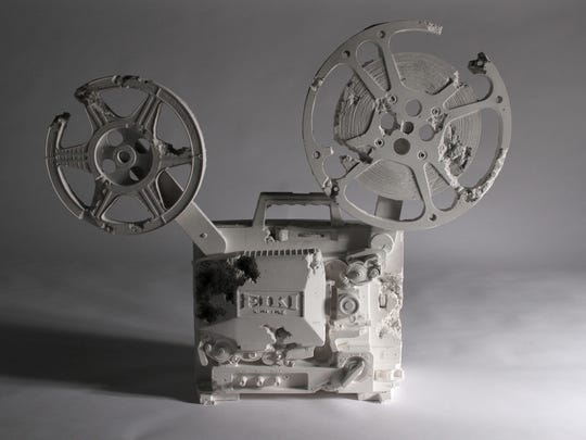 Daniel Arsham, Crystal Eroded 16mm Film Projector, 2013. Image courtesy the .jpg