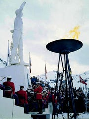 1960 Winter Olympics at Squaw Valley.