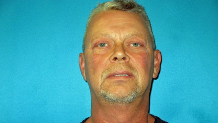 The mugshot of Fred Couch, father of Ethan Couch. He has been arrested for impersonating a police officer.