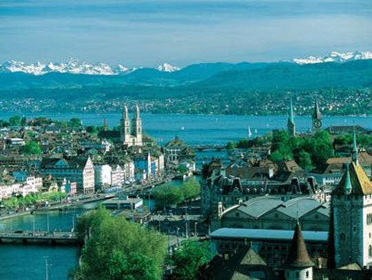 The Swiss city of Zurich.