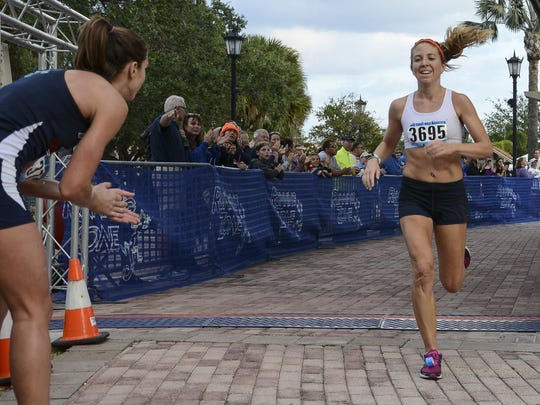 Alison Nolan won the Space Coast Runners Female Runner