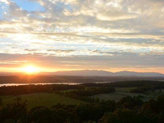 Sunset from the Ferncliff tower offers a panoramic view.