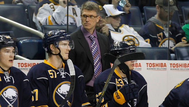 Ron Rolston had a combined 19-26-6 record in 51 games as head coach of the Buffalo Sabres.