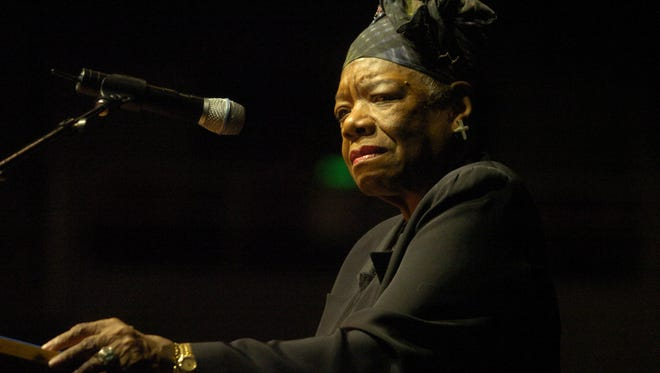 Maya Angelou speaks at Lawlor Events Center on May 1, 2005.