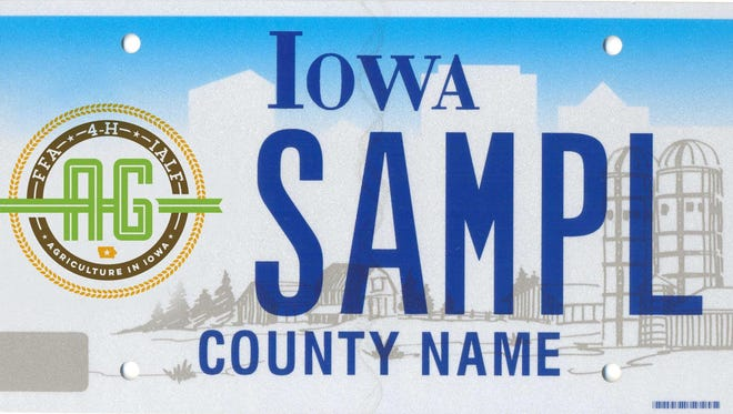 Iowa is offering a news agriculture-focused specialty license plate.