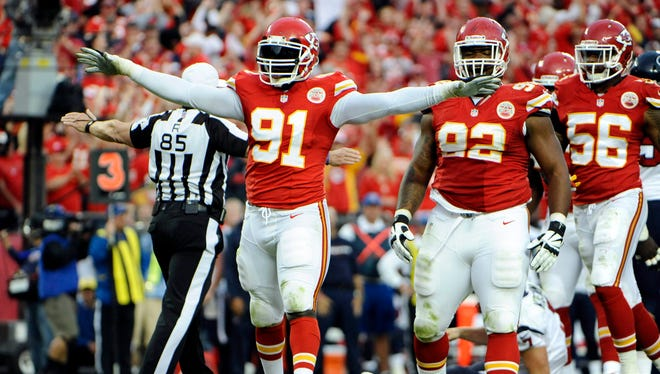 OLB Tamba Hali (91) is part of the Chiefs' formidable defensive front seven.