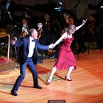 """Photo provided by Chris Harp Broadway veterans Joan Hess and Kirby Ward joined the Evansville Philharmonic Orchestra Saturday for its Pops concert """"Dancing and Romancing."""" The duo sang and danced to classic love songs and will reprise the show Sunday at 2 p.m."""