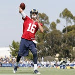 Rams' Goff continues waiting game