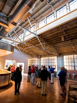 Tours of the construction of Common Bond Brewers in downtown Montgomery, Ala. are given on Thursday evening October 26, 2017.