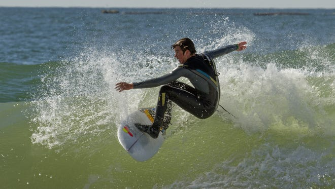Liam McCarthy of Harvey Cedars and St. Petersburg, Fla., enjoys surfing in Harvey Cedars.