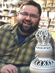 Brandon Capwell at Turk Hill Pottery.