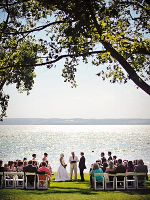 When people from around the country search for lake weddings, they find spots such as The Inns of Aurora on Cayuga Lake.