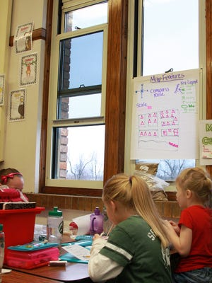 Outdoor temperatures were at 28 degrees Thursday morning but Susie Ramhap's classroom is normally around 85 degrees when the heater is on. The classroom has windows open to cool temperatures down to 77 degrees at Prairieview Elementary.