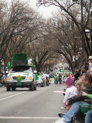 The 33rd Annual York St. Patrick's Day Parade comes down Market Street Saturday, March 12, 2016. Amanda J. Cain photo