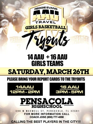 Pensacola's Reggie Evans is putting together two AAU travel girls basketball teams. Tryouts are Saturday
