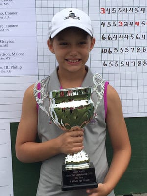 Nine-year-old Emerson Blair of West Point, Miss. will compete in the 2016 Drive, Chip and Putt Championship at Augusta National Golf Club Sunday morning.