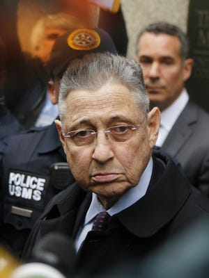 Former New York Assembly speaker Sheldon Silver exits federal court in Lower Manhattan on May 3, 2016, in New York City.  Silver was sentenced to 12 years in prison for corruption schemes that federal officials said captured $5 million over a span of two decades.