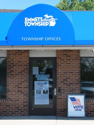 Voting booths at Emmett Township Offices on the day of the Aug. 2 primary.