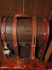 One of the locked containers that holds a clue or a key in the Budapest Express room will help participants solve all of the clues in their 60-minute time frame at Escapology in Portage.
