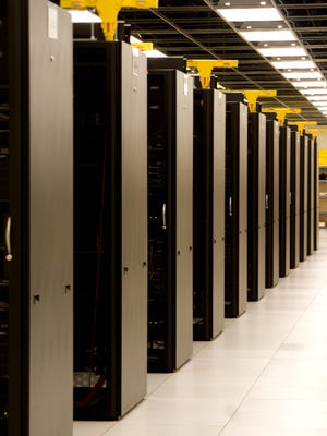 Servers in a data center run by the State of Oregon.