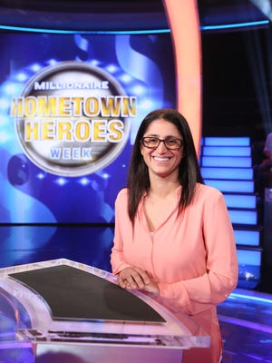 Dr. Mona Hanna-Attisha on the set of  'Who Wants To Be A Millionaire' on August 19, 2016, in Las Vegas, Nevada.