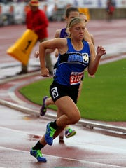 Brooke Schreiber will be looking to make her third trip to state this spring in the 800.