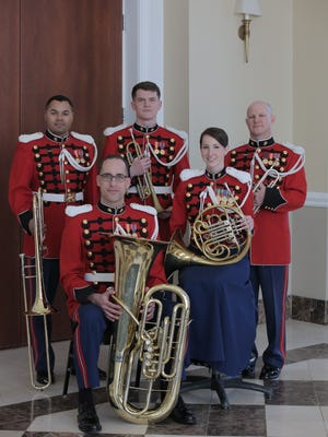 The Brass Quintet of the U.S. President's Own Marine Band.