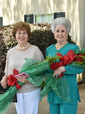 20 year service award recipients, Edith West, left, and Virginia McFatter, right