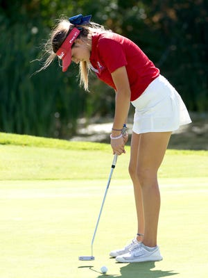 Abbi Fleiner fired a 72 Tuesday, to go with her 77 on Monday, for a two-day total of 149 as the Reno High junior had the best finish by a Northern 4A golfer in the 4A state golf tournament.