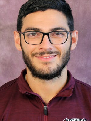 McMurry men's soccer coach Tyler Tarango