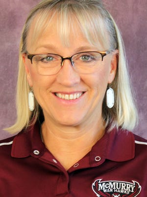McMurry volleyball coach Cammie Petree