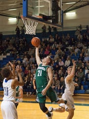 Pennfield's Grant Petersen had a team-high 19 points in the Panthers win over Harper Creek.