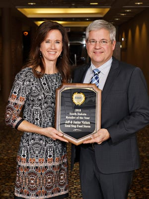 Jeff and Janine Nielsen of Canistotawere named 2018 South Dakota Retailer of the Year Award by the South Dakota Retailers Association.