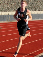 Burkburnett's Sloan Lewis won the 3,200 and 1,600 races