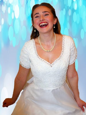 """Lauren Mary Moore as Sophie in Broadway Palm's """"Mamma Mia!"""""""