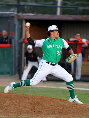 Iowa Park pitcher Chris Dickens serves as the Hawks' ace, but is just the first in a long line of quality arms.