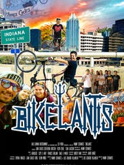 "The movie poster for the documentary ""Bikelantis."""