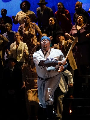 """Lester Lynch as Josh Gibson in Michigan Opera Theatre's production of """"The Summer King."""""""