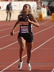 Refugio's Alexa Valenzuela competes in the Class 2A